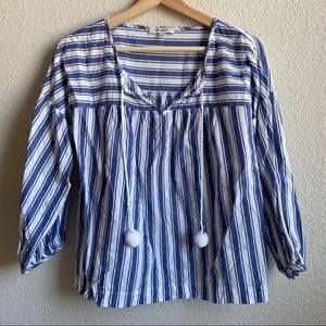 Madewell blue stripe top - size S - never worn